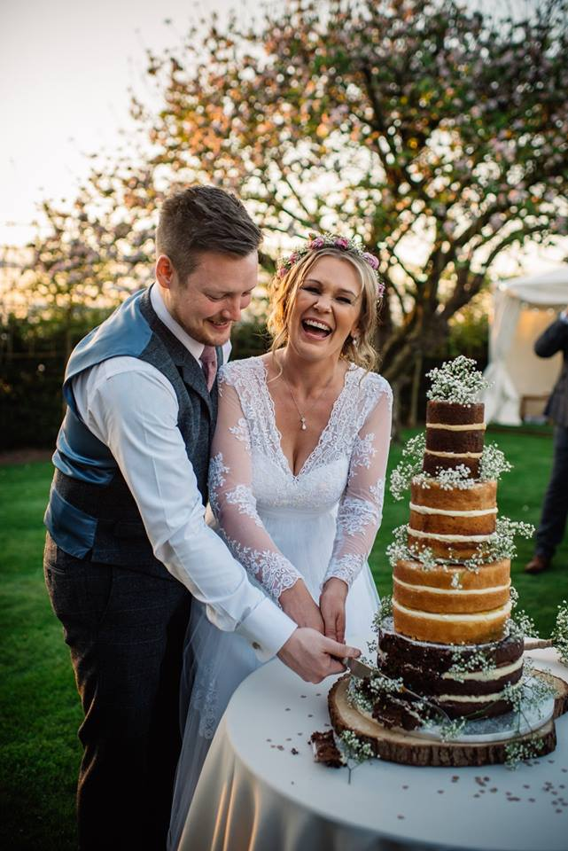 Cake cutting on the Lawn