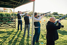 Laser Clay Shooting in the Fields