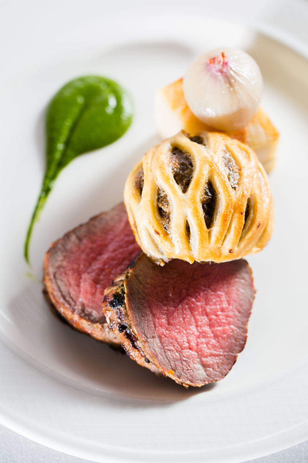 Sirloin of Beef with Truffled Mushrooms