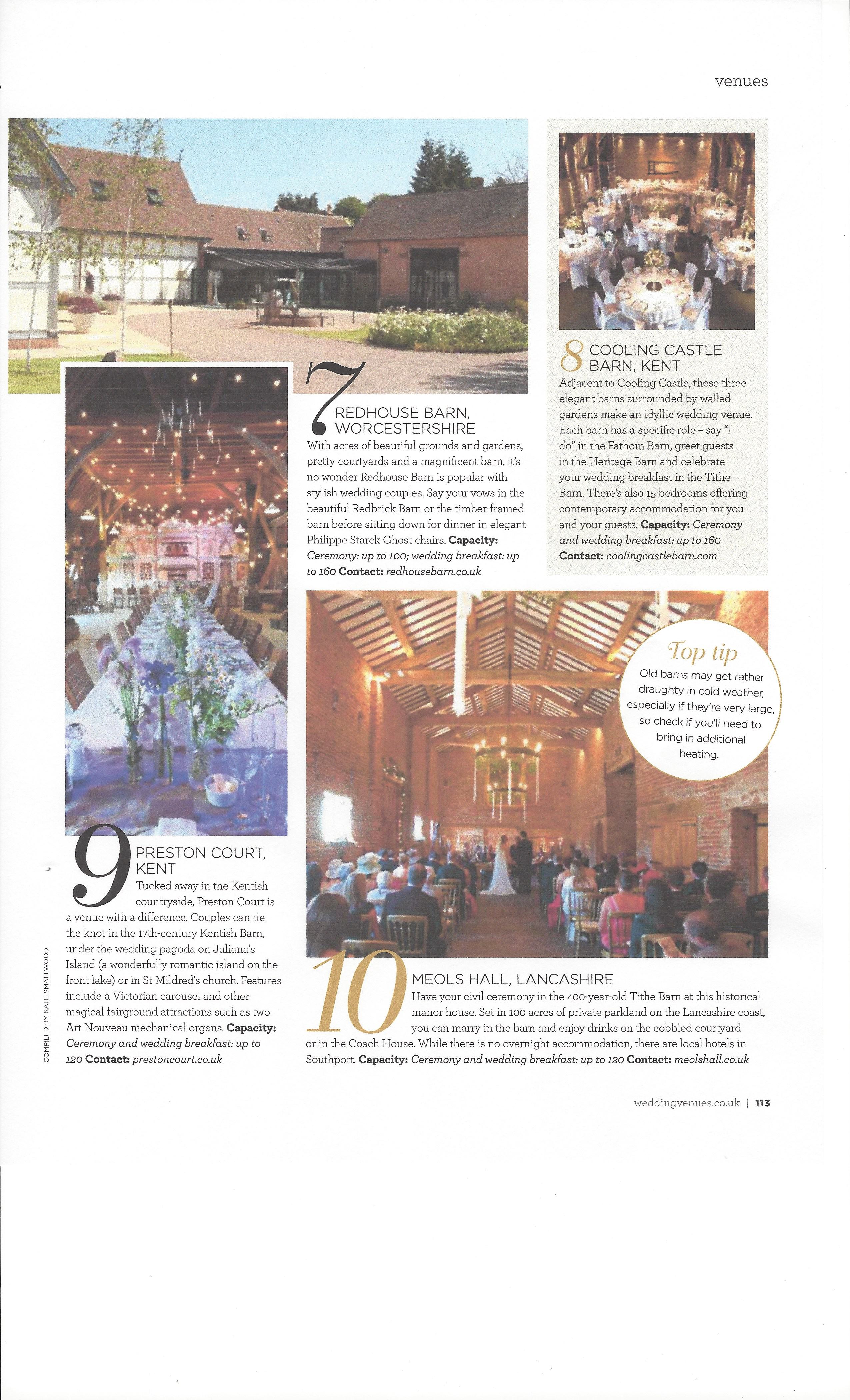 Wedding Venues and Services Magazine 10 Beautiful Barns